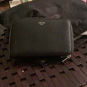 Celine black wallet 100% authentic
